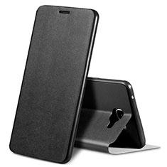 Handytasche Stand Schutzhülle Leder S01 für Samsung Galaxy A9 Pro (2016) SM-A9100 Schwarz