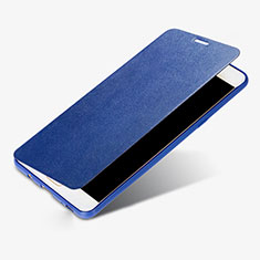 Handytasche Stand Schutzhülle Leder S01 für Samsung Galaxy C9 Pro C9000 Blau