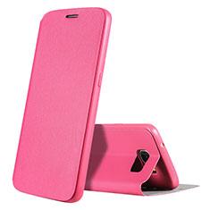 Handytasche Stand Schutzhülle Leder S01 für Samsung Galaxy S7 G930F G930FD Pink