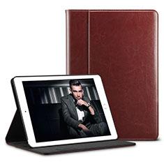 Handytasche Stand Schutzhülle Leder U01 für Apple iPad Pro 10.5 Braun