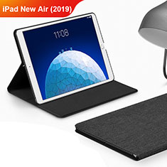 Handytasche Stand Schutzhülle Stoff für Apple iPad Air 3 Schwarz