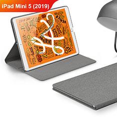 Handytasche Stand Schutzhülle Stoff für Apple iPad Mini 5 (2019) Grau