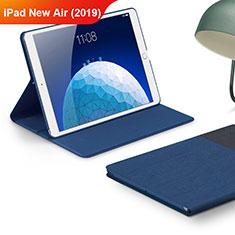 Handytasche Stand Schutzhülle Stoff für Apple iPad New Air (2019) 10.5 Blau