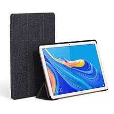 Handytasche Stand Schutzhülle Stoff für Huawei MatePad 10.8 Schwarz