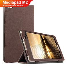 Handytasche Stand Schutzhülle Stoff für Huawei Mediapad M2 8 M2-801w M2-803L M2-802L Braun