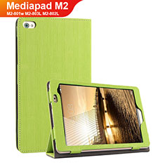 Handytasche Stand Schutzhülle Stoff für Huawei Mediapad M2 8 M2-801w M2-803L M2-802L Grün