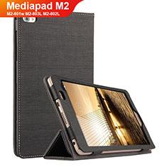 Handytasche Stand Schutzhülle Stoff für Huawei Mediapad M2 8 M2-801w M2-803L M2-802L Schwarz