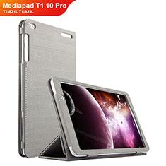 Handytasche Stand Schutzhülle Stoff für Huawei Mediapad T1 10 Pro T1-A21L T1-A23L Grau