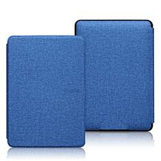 Handytasche Stand Schutzhülle Stoff L01 für Amazon Kindle 6 inch Blau