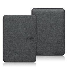 Handytasche Stand Schutzhülle Stoff L01 für Amazon Kindle 6 inch Schwarz