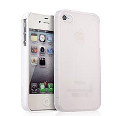 Hülle Kunststoff Schutzhülle Matt für Apple iPhone 4 Weiß