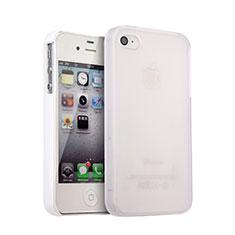 Hülle Kunststoff Schutzhülle Matt für Apple iPhone 4S Weiß