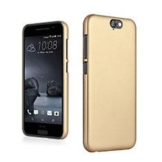 Hülle Kunststoff Schutzhülle Matt für HTC One A9 Gold