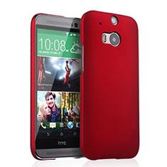 Hülle Kunststoff Schutzhülle Matt für HTC One M8 Rot