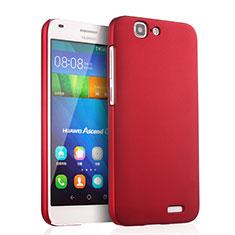 Hülle Kunststoff Schutzhülle Matt für Huawei Ascend G7 Rot