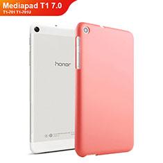 Hülle Kunststoff Schutzhülle Matt für Huawei Mediapad T1 7.0 T1-701 T1-701U Rot