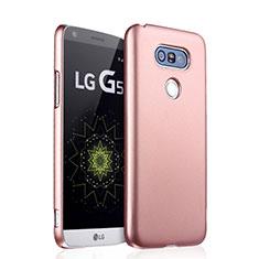 Hülle Kunststoff Schutzhülle Matt für LG G5 Rosegold