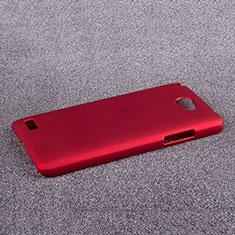 Hülle Kunststoff Schutzhülle Matt für LG L Bello 2 Rot