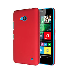 Hülle Kunststoff Schutzhülle Matt für Microsoft Lumia 640 Rot