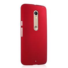 Hülle Kunststoff Schutzhülle Matt für Motorola Moto X Style Rot