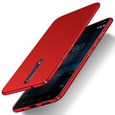 Hülle Kunststoff Schutzhülle Matt für Nokia 8 Rot