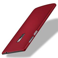 Hülle Kunststoff Schutzhülle Matt für OnePlus 2 Rot