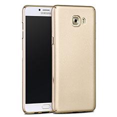 Hülle Kunststoff Schutzhülle Matt für Samsung Galaxy C9 Pro C9000 Gold
