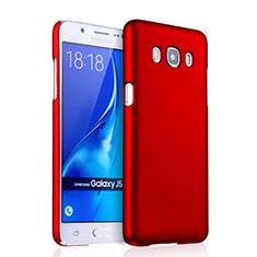 Hülle Kunststoff Schutzhülle Matt für Samsung Galaxy J5 Duos (2016) Rot