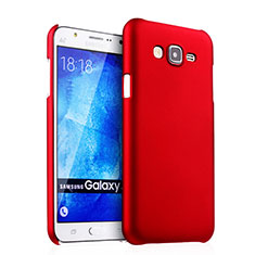 Hülle Kunststoff Schutzhülle Matt für Samsung Galaxy J5 SM-J500F Rot