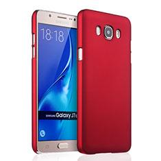 Hülle Kunststoff Schutzhülle Matt für Samsung Galaxy J7 (2016) J710F J710FN Rot