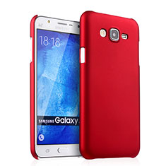 Hülle Kunststoff Schutzhülle Matt für Samsung Galaxy J7 SM-J700F J700H Rot