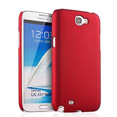 Hülle Kunststoff Schutzhülle Matt für Samsung Galaxy Note 2 N7100 N7105 Rot