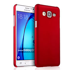 Hülle Kunststoff Schutzhülle Matt für Samsung Galaxy On5 G550FY Rot