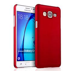Hülle Kunststoff Schutzhülle Matt für Samsung Galaxy On5 Pro Rot