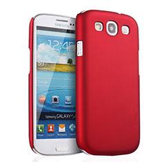 Hülle Kunststoff Schutzhülle Matt für Samsung Galaxy S3 III LTE 4G Rot