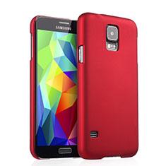 Hülle Kunststoff Schutzhülle Matt für Samsung Galaxy S5 G900F G903F Rot