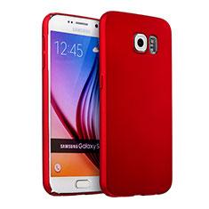 Hülle Kunststoff Schutzhülle Matt für Samsung Galaxy S6 SM-G920 Rot