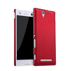 Hülle Kunststoff Schutzhülle Matt für Sony Xperia C3 Rot