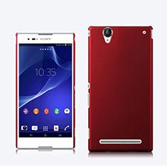 Hülle Kunststoff Schutzhülle Matt für Sony Xperia T2 Ultra Dual Rot