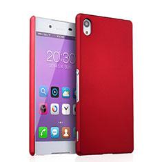 Hülle Kunststoff Schutzhülle Matt für Sony Xperia Z3+ Plus Rot