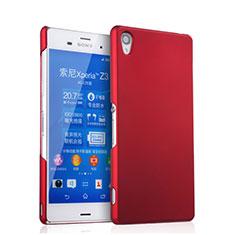 Hülle Kunststoff Schutzhülle Matt für Sony Xperia Z3 Rot