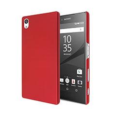 Hülle Kunststoff Schutzhülle Matt für Sony Xperia Z5 Rot