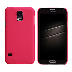 Hülle Kunststoff Schutzhülle Matt M02 für Samsung Galaxy S5 G900F G903F Rot