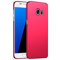 Hülle Kunststoff Schutzhülle Matt M02 für Samsung Galaxy S7 G930F G930FD Rot