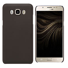 Hülle Kunststoff Schutzhülle Matt M03 für Samsung Galaxy J7 (2016) J710F J710FN Braun