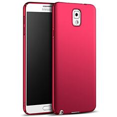 Hülle Kunststoff Schutzhülle Matt M05 für Samsung Galaxy Note 3 N9000 Rot
