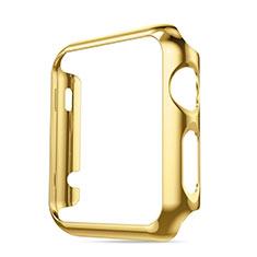 Hülle Luxus Aluminium Metall Rahmen für Apple iWatch 42mm Gold
