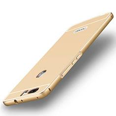 Hülle Luxus Aluminium Metall Rahmen für Huawei Honor V8 Gold