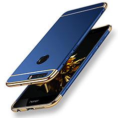 Hülle Luxus Metall Rahmen und Kunststoff für Huawei Honor 8 Blau