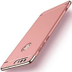 Hülle Luxus Metall Rahmen und Kunststoff für Huawei Honor 8 Rosegold